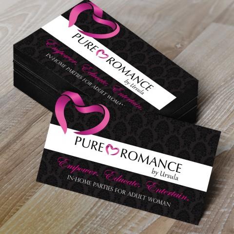 Work eden design studio for Pure romance business cards