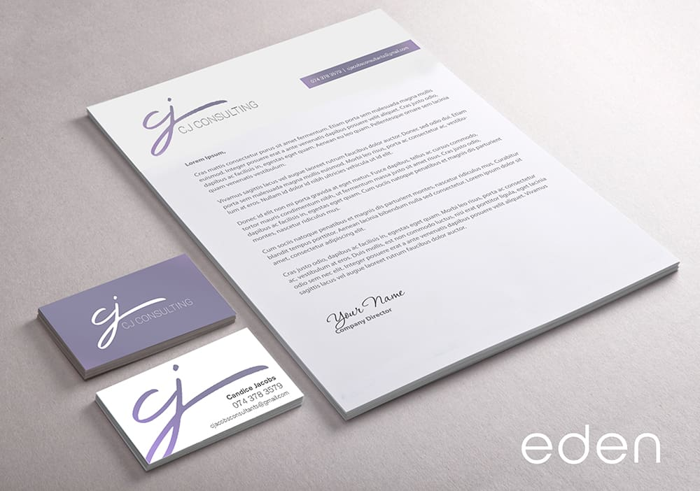 CJ Consulting Corporate Stationery