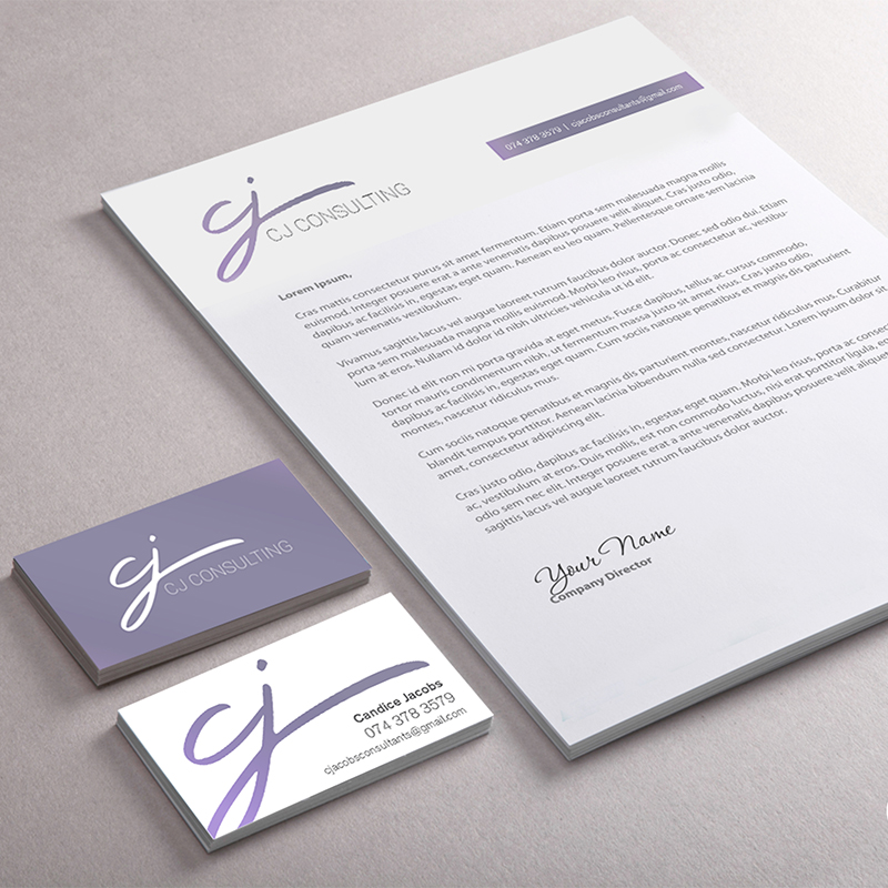 CJ Consulting stationery